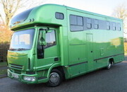 2006 Iveco Eurocargo Coach built by LM Horseboxes. Stalled for 3 with smart living.. Underfloor storage,, Metallic paint... Stunning 7.5 ton horsebox