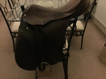 """Stubben saddle 18"""" for sale  Brown colour,"""