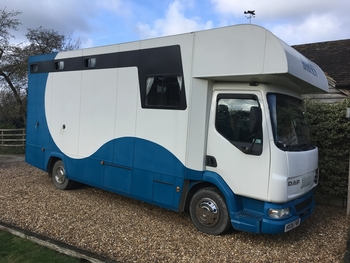 7.5t, Layland Daf, 2006, 3 horse with living