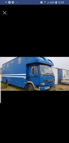 Leyland daf 7.5 ton 4 horse lorry tilt cab
