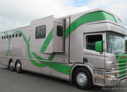 Scania 360 Coach built by Royal Horseboxes. Stalled for 7 with slide out in the living.. VERY SMART