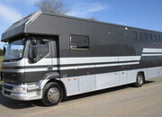 2002 51 15 Ton DAF LF 220 Coach built by PRB Horseboxes. Stalled for 5 with smart living.. Sleeping for 4..VERY SMART