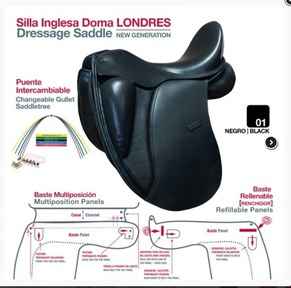 Leather Dressage saddle NEW, with exchanable gullet plate and adaptable wool panels
