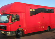 2010 59 MAN Coach built by Equine Elite coach builders. Stalled for 3 with smart luxury with toilet and shower..
