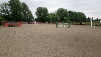 75m x 40m Floodlit Arena Hire with brand new showjumps