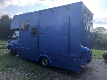 Horse box 6.5 ton, live in,2 stall, Blue, IVECO Daily, 65c14, 73,035 miles