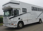 2003 Scania 260 Coach built by David Murray horseboxes. Stalled for 5 with smart luxury living.. Huge bathroom