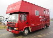 DAF 45 130 Coach built by Harlequin. Stalled for 3 with smart living.. Sold with a years MOT.