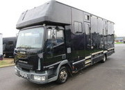 2005 55 Iveco Eurocargo 75E17 Coach built by G C Smith. Stalled for 4 forward facing. Twin side ramps.