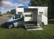 ASCOT 2  New Build ,3.5 Ton Renault Master 65 Reg, 28,000 miles, £ 28,950  LWB, Stallion Partition and loading Gates  Separate  living   Sleeps 2, Sat Nav ,Air Con