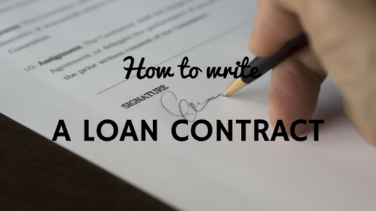 How To Write A Loan Contract Sample Horsemart